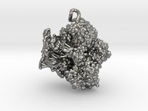 CRISPR Pendant - Science Jewelry in Natural Silver