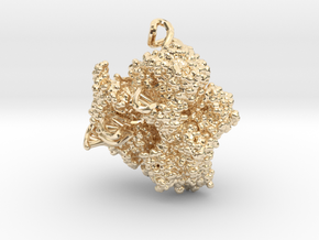 CRISPR Pendant - Science Jewelry in 14k Gold Plated Brass