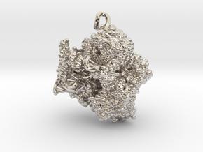CRISPR Pendant - Science Jewelry in Rhodium Plated Brass