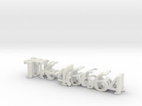 3dWordFlip: TK-46664/StormTrooper in White Natural Versatile Plastic