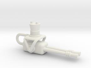 Gun-1 in White Natural Versatile Plastic