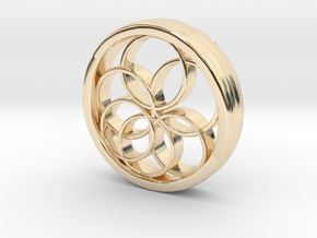 Ring X12 in 14k Gold Plated Brass: Small