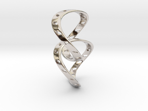Ring X14 in Rhodium Plated Brass: Small