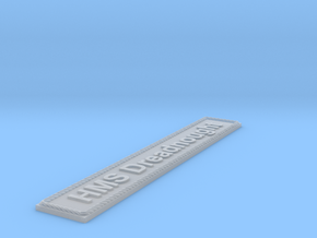 Nameplate: HMS Dreadnought in Smoothest Fine Detail Plastic