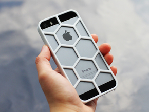 iPhone SE/5/5s DIY Case - Hexelion in White Processed Versatile Plastic