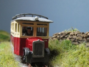 009 Irish Style Railcar  in White Natural Versatile Plastic