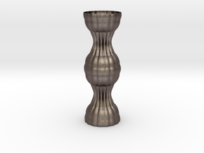 Vase 1216f in Polished Bronzed Silver Steel