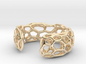 Lakatos Cuff in 14k Gold Plated Brass: Medium