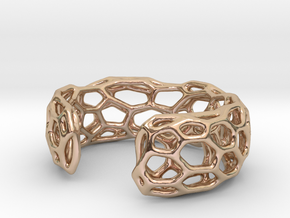 Lakatos Cuff in 14k Rose Gold Plated Brass: Large