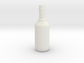 Bottle 3 in White Natural Versatile Plastic