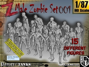 1/87 Male Zombie Set001 in Frosted Ultra Detail