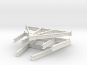 1/35 US PT Class Elco Cradle Spur Parts in White Natural Versatile Plastic