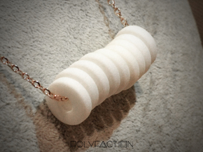 polyNINE ::: Circle Pendant ::: v.01 in White Natural Versatile Plastic