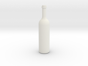 Bottle 1 in White Natural Versatile Plastic