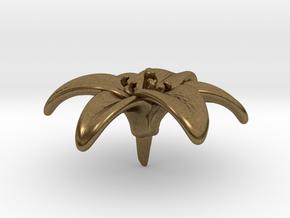 Lily Blossom (Medium) in Natural Bronze