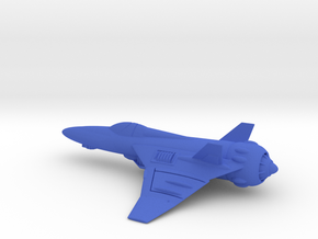 Space Interceptor  in Blue Strong & Flexible Polished