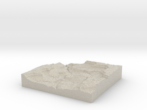 Model of Schoolhouse Canyon in Natural Sandstone