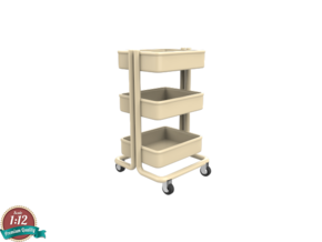 Miniature Kitchen Cart - IKEA in White Strong & Flexible: 1:12