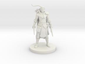 Elf Male Two Sword Ranger in White Natural Versatile Plastic