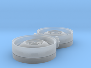 1/25 Kelsey Hayes Artillery wheels x2, 19.3mm O.D. in Smooth Fine Detail Plastic