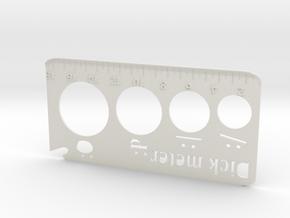 penis dick meter ruler keychain bottle opener fun in White Natural Versatile Plastic