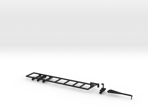 1/64 40' Double Headed Trailer- Frame and Hitch in Black Natural Versatile Plastic