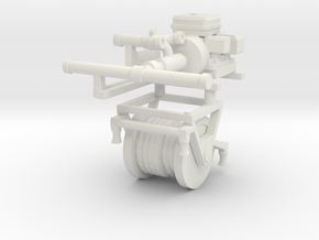 1/35th Fire Hose Reel and Water Pump in White Natural Versatile Plastic