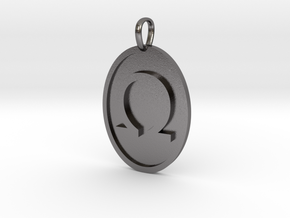 Omega Medallion in Polished Nickel Steel