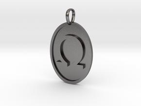 Omega Medallion in Polished Nickel Steel