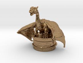 Fantasy Dragon Bottlestopper in Natural Brass