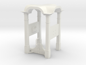 Belfry in 1:24 scale in White Natural Versatile Plastic