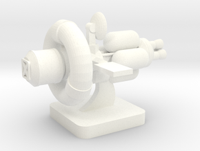 Mini Space Program, Interplanetary Ship 3 in White Processed Versatile Plastic