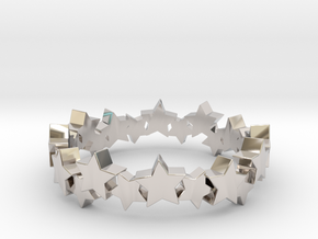 Stellar Ring in Rhodium Plated Brass: 4 / 46.5