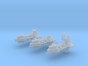 Apostate Frigates  (3) in Smooth Fine Detail Plastic