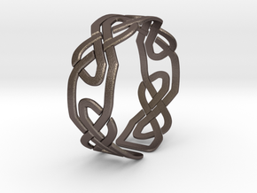 Celtic Knot Bracelet in Polished Bronzed Silver Steel: Extra Small