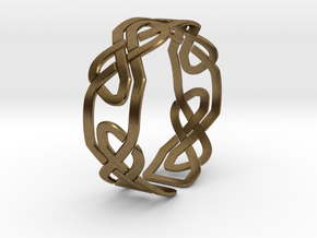 Celtic Knot Bracelet in Natural Bronze: Extra Small