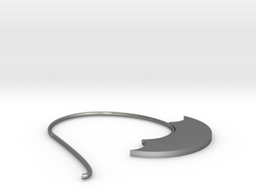 Hoop Earring(SWH1b) in Polished Silver