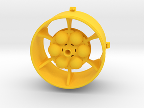 LISA Propulsion Module, 1/48 scale in Yellow Processed Versatile Plastic