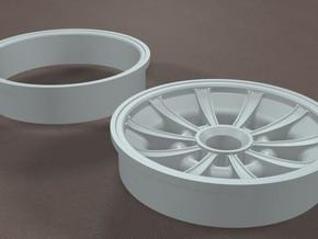 TDR 427 Roadster Sunburst Street Wheel in White Natural Versatile Plastic