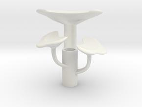 Reiche Mushroom Cluster in White Natural Versatile Plastic