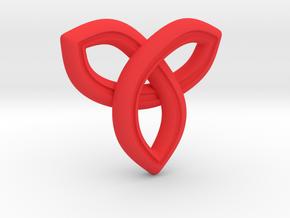 Geometric Pendant in Red Processed Versatile Plastic