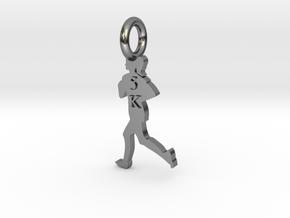 Female 5K Runner in Fine Detail Polished Silver