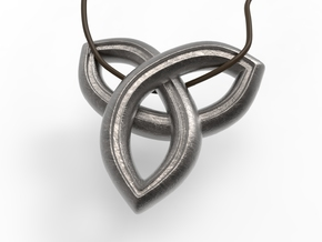 Geometric Pendant in Polished Nickel Steel