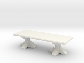 Medieval Italian feast table scaled for 1:48 (#2) in White Natural Versatile Plastic