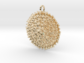 Fractal Bouquet Pendant in 14k Gold Plated Brass