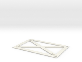 Amiga PSU Mean Well PT-45B / PT-65B Mounting Plate in White Natural Versatile Plastic
