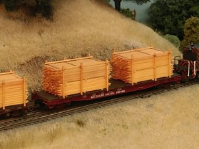 Lumber Load N Scale: 53' Flat Car in Smooth Fine Detail Plastic