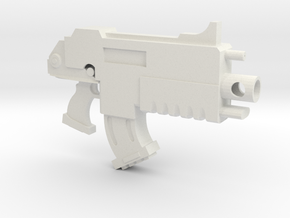 Test Bolt Gun in White Natural Versatile Plastic