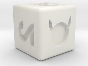 Hellionpi dice in White Natural Versatile Plastic