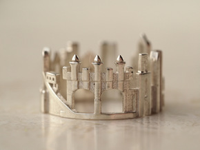 Pittsburgh Cityscape - Skyline Statement Ring in Polished Silver